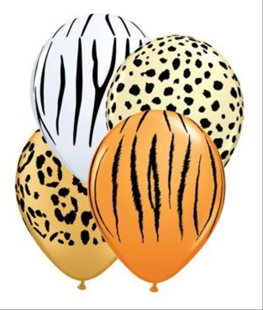 ANIMAL JUNGLE SAFARI TIGER ETC PRINT BALLOONS Party X10 Helium Quality in Home & Garden, Parties, Occasions, Balloons, Decorations | eBay!