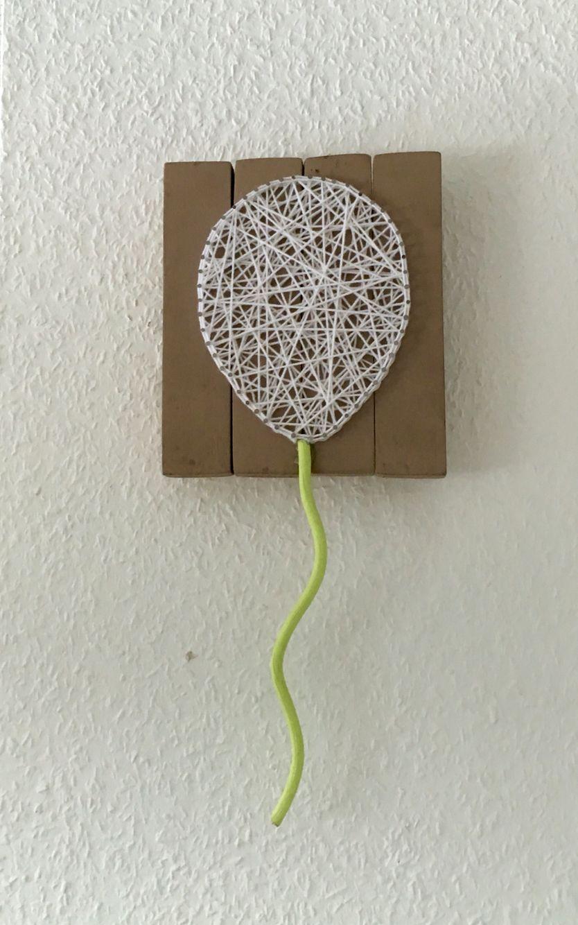 Mein erstes Fadenbild Ballon - String Art - Nagelbild | string and ...
