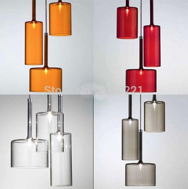 creatieve glas lamp moderne glazen hanglamp plafond lampen ...