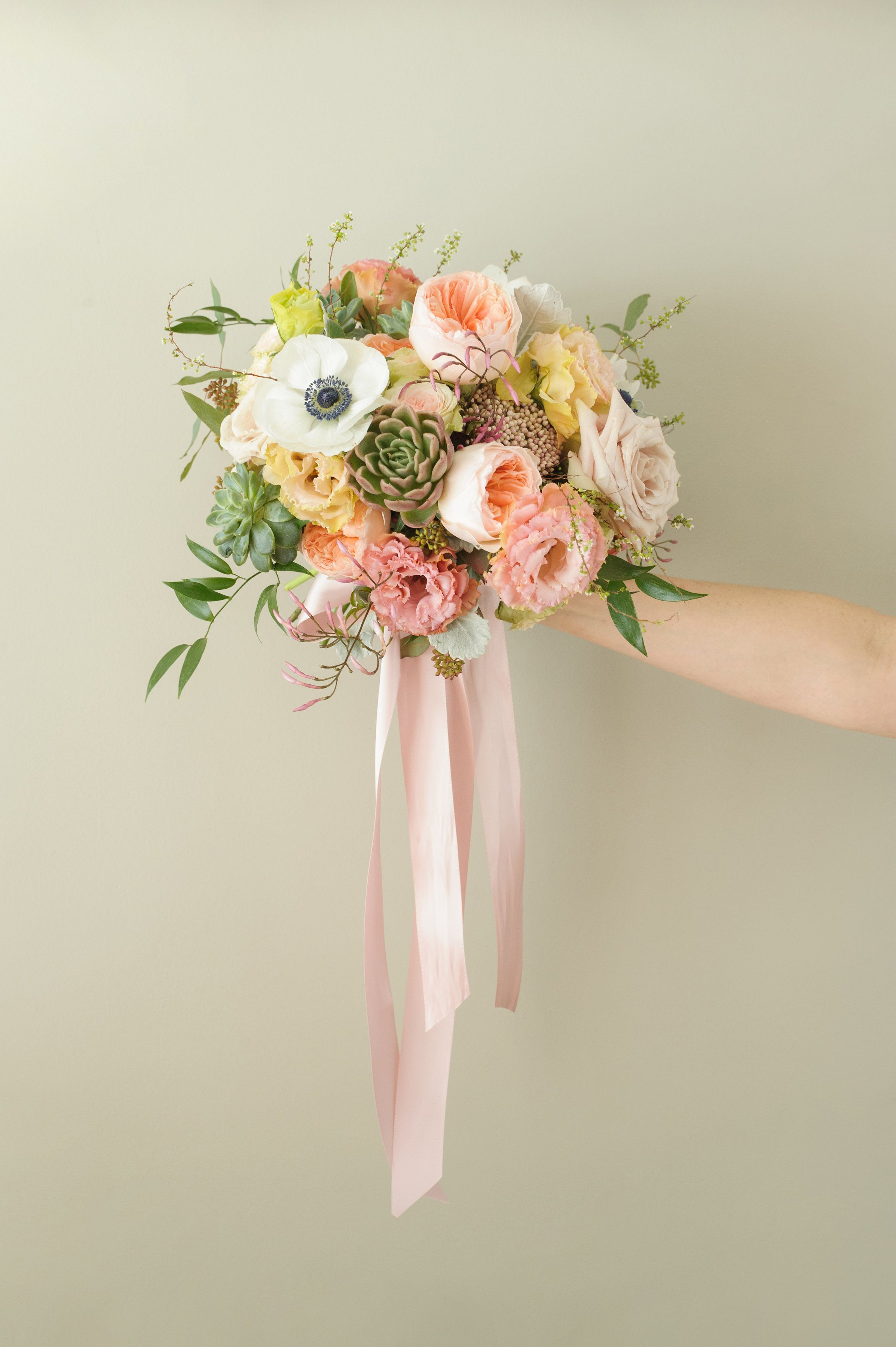 Wedding Bouquet Peach And Blush By Poppies And Twine Yarmouth Maine Poppy Wedding Bouquets Floral Wedding Wedding