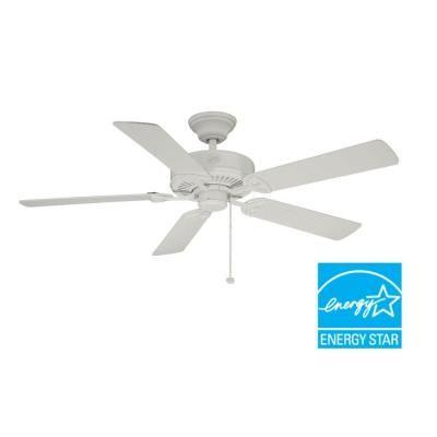 Farmington 52 In Indoor White Ceiling Fan B552qi Wh The Home Depot White Ceiling Fan Ceiling Fan Ceiling Fans For Sale 52 inch white ceiling fan