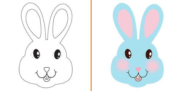 Maschera da coniglio da stampare colorare e costruire for Cane da colorare e stampare