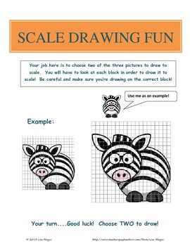 SCALE DRAWING EXAMPLES PRACTICE WORKSHEET; FUN PROJECT ...