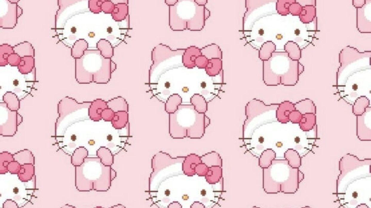 Pink Hello Kitty Wallpaper Desktop Hello Kitty Wallpaper Hello Kitty Backgrounds Kitty Wallpaper