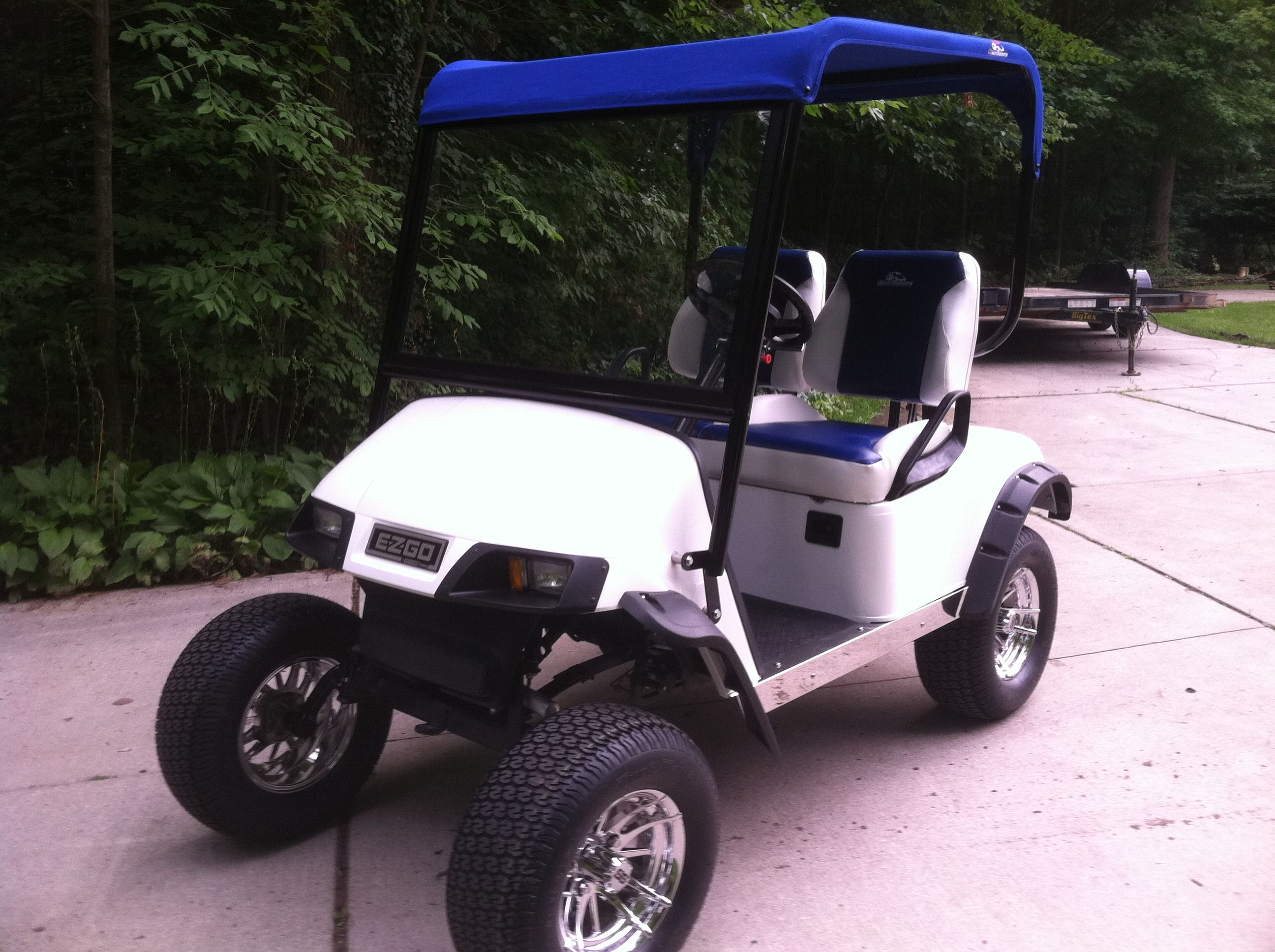 Custom Golf Cart With Soft Top Check Us Out At Www Cartwizards Com Or Email At Ozmotorsports Gmail Com Golf Carts Custom Golf Carts Soft Tops