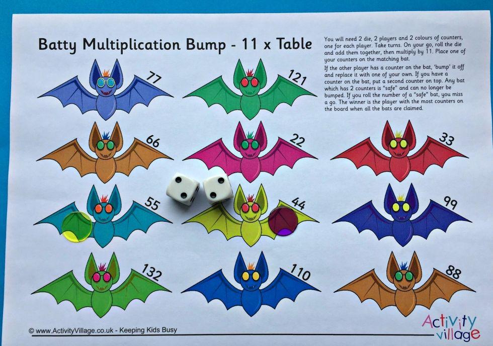 Batty Multiplication Bump times table 11 | Homeschooling Maths ...