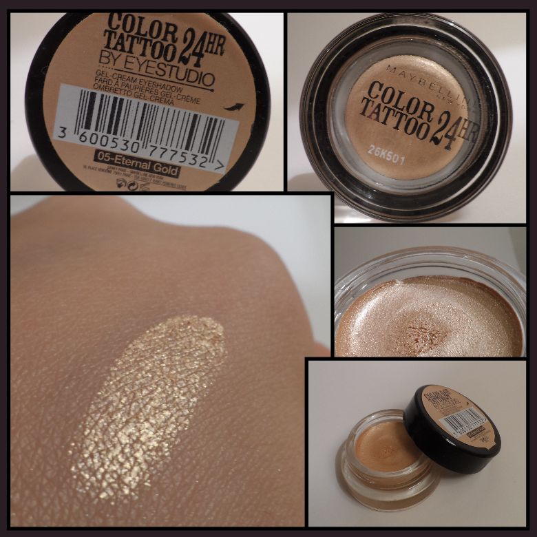 Swatch Color Tattoo Maybelline New York 05 Eternal Gold In 2020 Maybelline Color Tattoo Maybelline Color Tattoo Swatches Skin Makeup