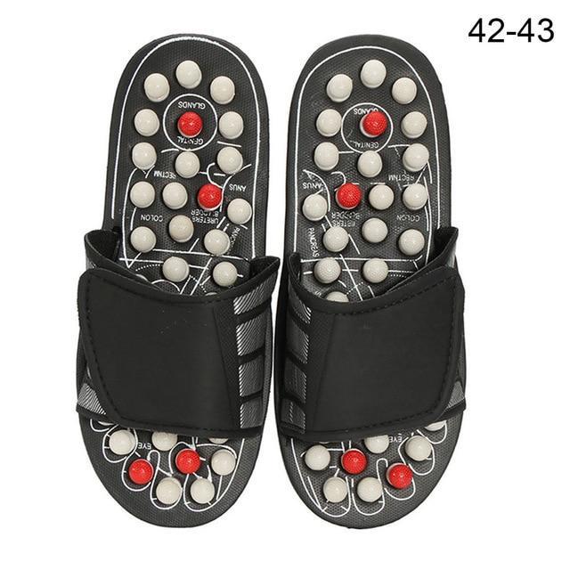 1 Pair Foot Massage Slippers Reflexology Sandals Acupressure Massage Shoes Home