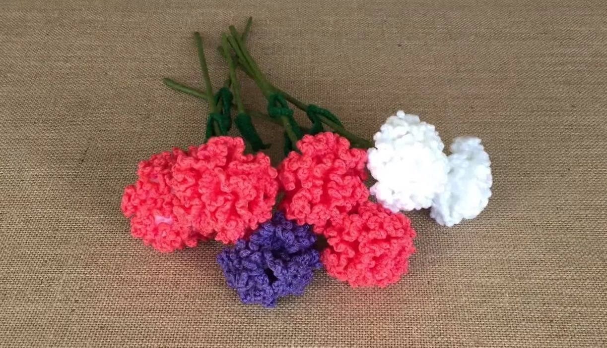 How To Crochet A Carnation. This video tutorial show you how to ...