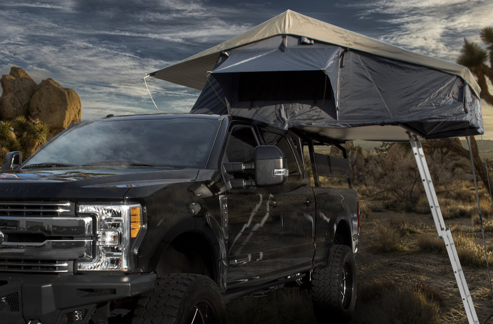 Overland Vehicle Systems 18049936 Nomadic 4 Extended Roof Top Tent Top Tents Roof Top Tent Tent
