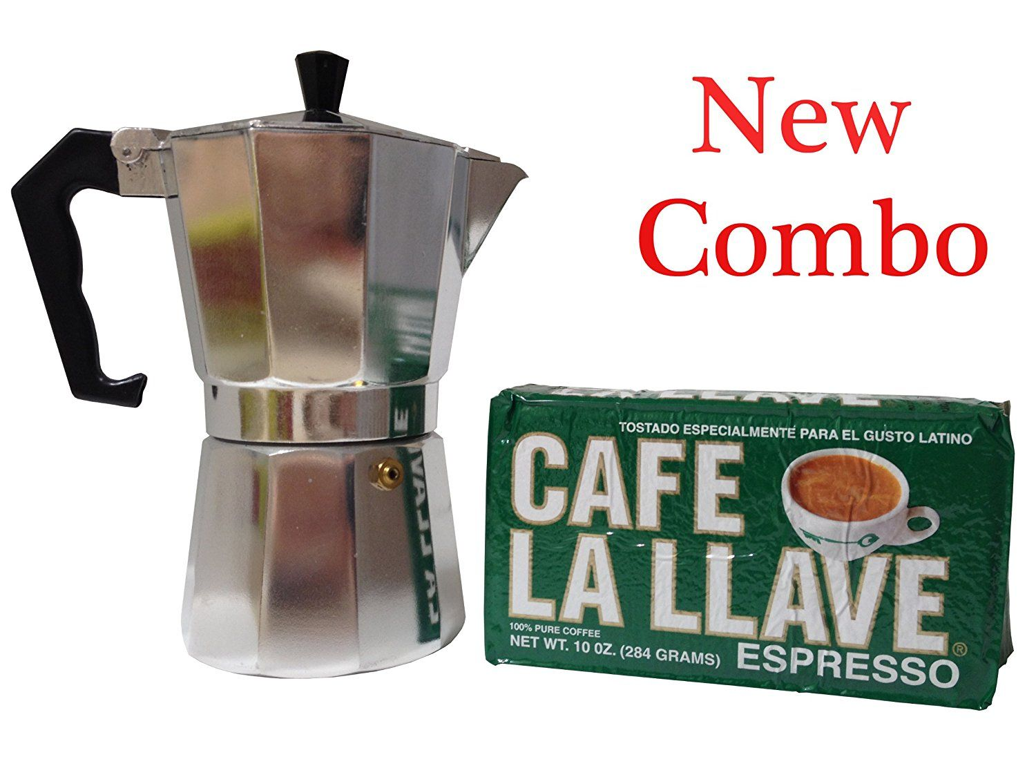 Cafe la llave 10oz and coffee maker 3 cup combo you can