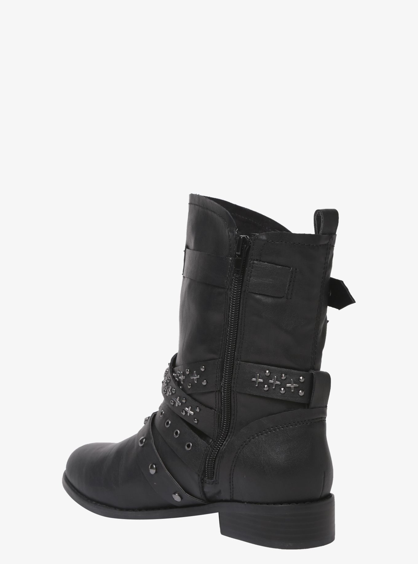 1fe385192d8 Studded Strap Moto Boots (Wide Width) | Shoes | Boots, Wide width ...