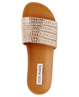 e253f770c2b Steve Madden Women s Dazzle Embellished Sandals - Rhinestone 9.5M ...