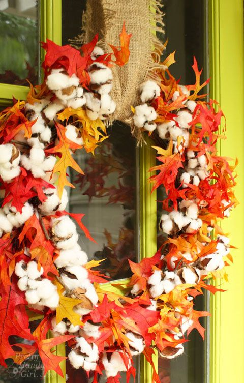 Cotton Wreath for Fall Décor | Pretty Handy Girl
