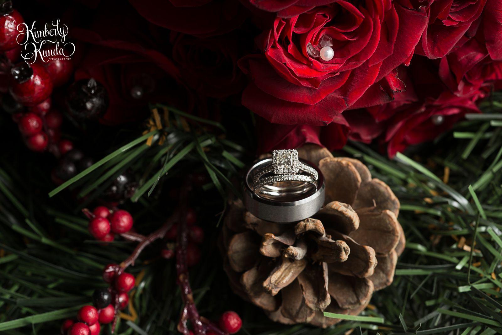 I love the jewelry we choose to share with our loves forever... #kimberlykunda #kimberlykundaphotography #kkp #kkpweddings #winterwedding #decemberwedding #engagementring #weddingring #christmaswedding