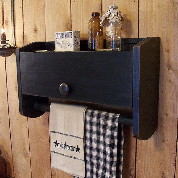 Primitive Above The Toilet Bathroom Cabinet Towel Rack Toilet Paper