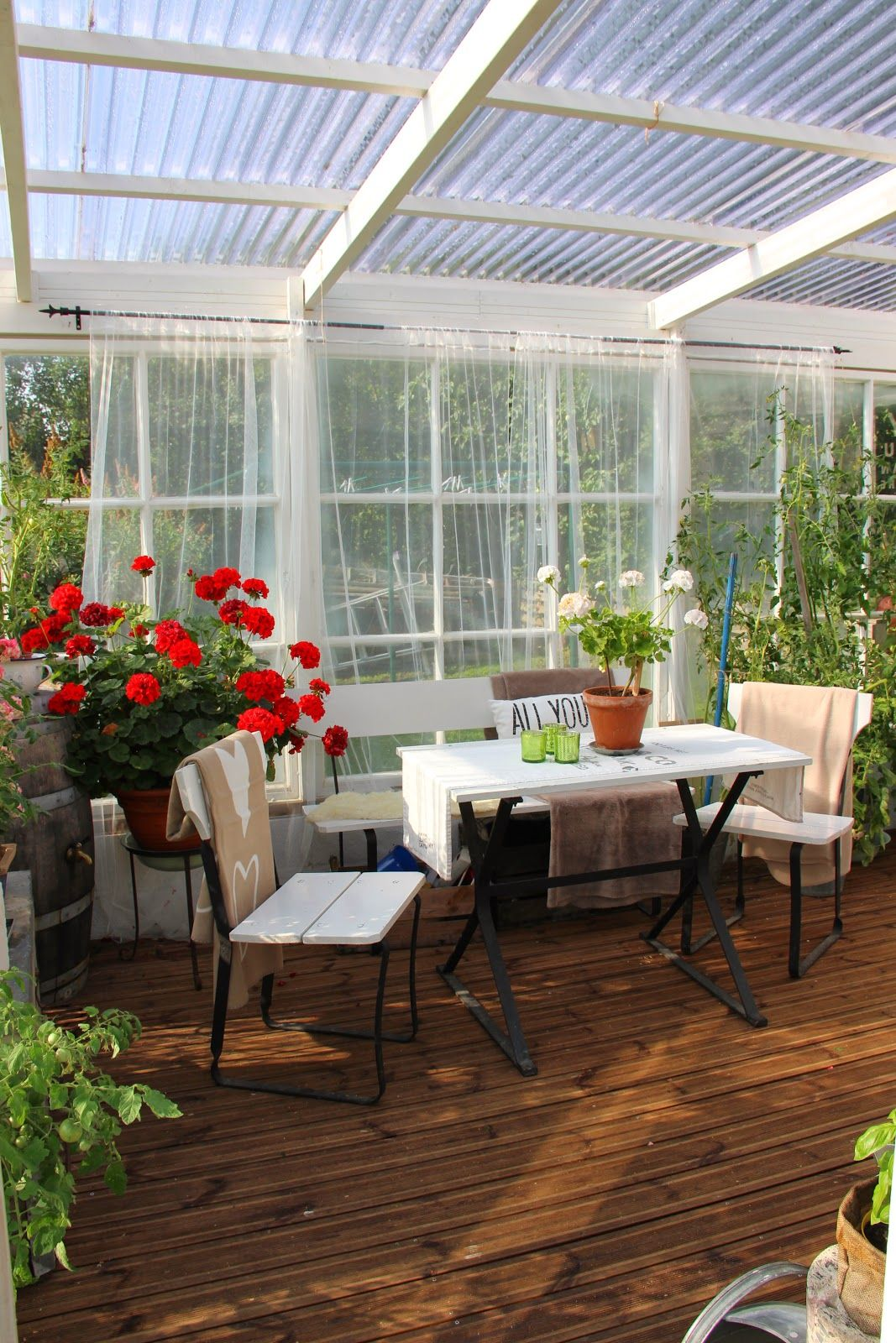 Greenhouse Garden To Our Table In 2019 Patio Patio