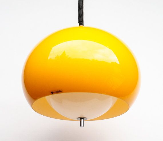 Adjustable Atomic Ceiling Light Yellow And White Space Age