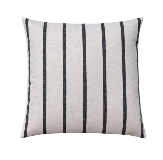 Striped Pillow Set with Grey Stripe