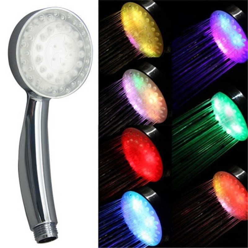 Multicolor jump change colour changing shower head with package ...