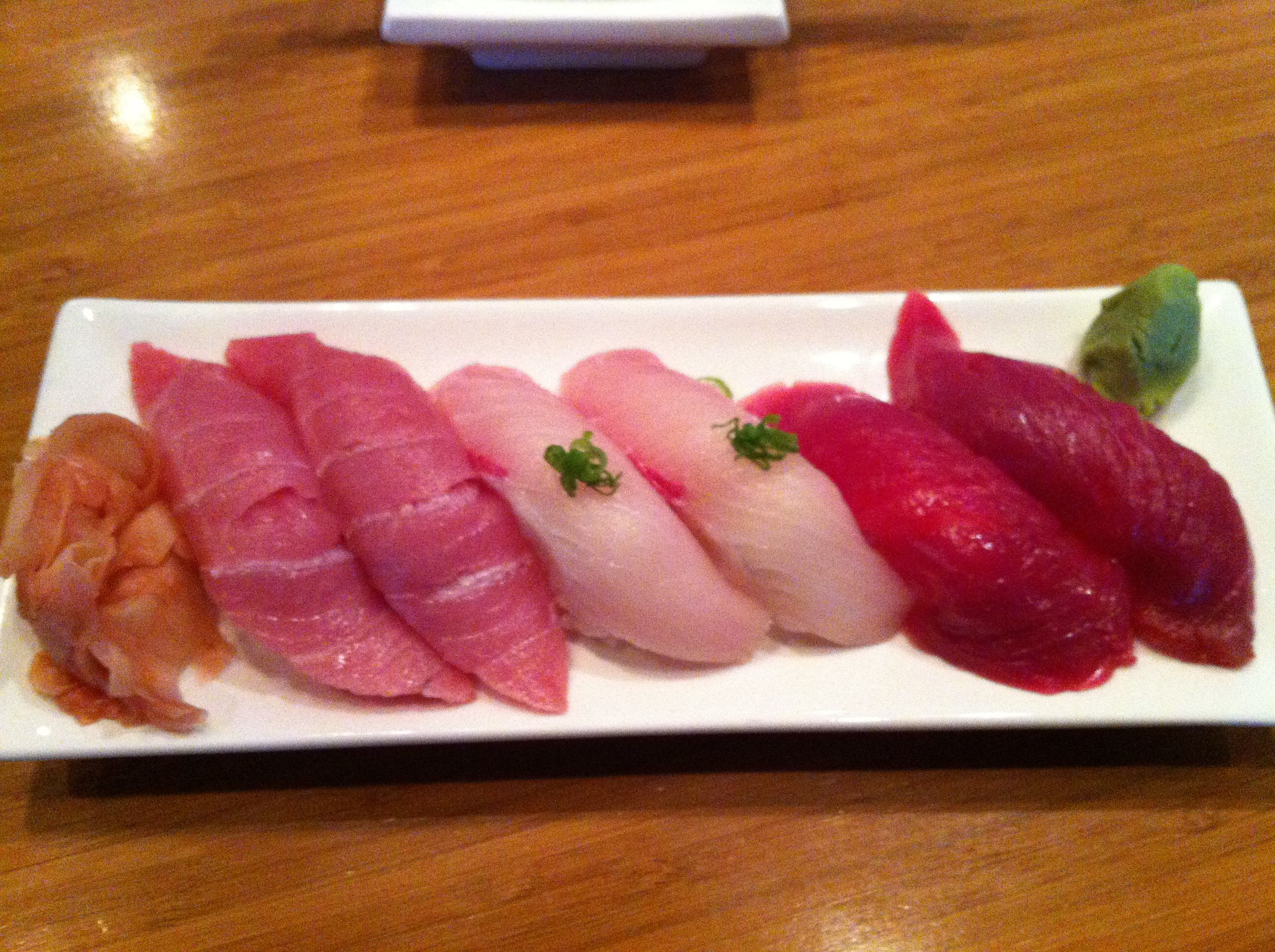 Bluefin toro yellowtail bluefin tuna rocked sushi for Yellowtail fish sushi