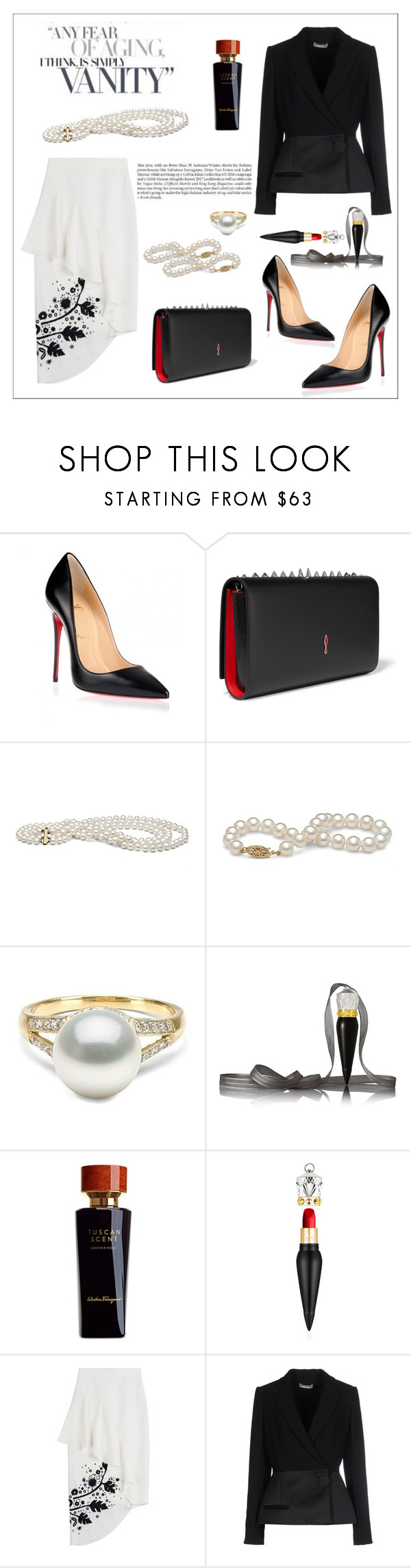"""ANY FEAR OF AGING, I THINK, IS SIMPLY VANITY!!!"" by kskafida ❤ liked on Polyvore featuring Christian Louboutin, Salvatore Ferragamo, Peter Pilotto and Balenciaga"