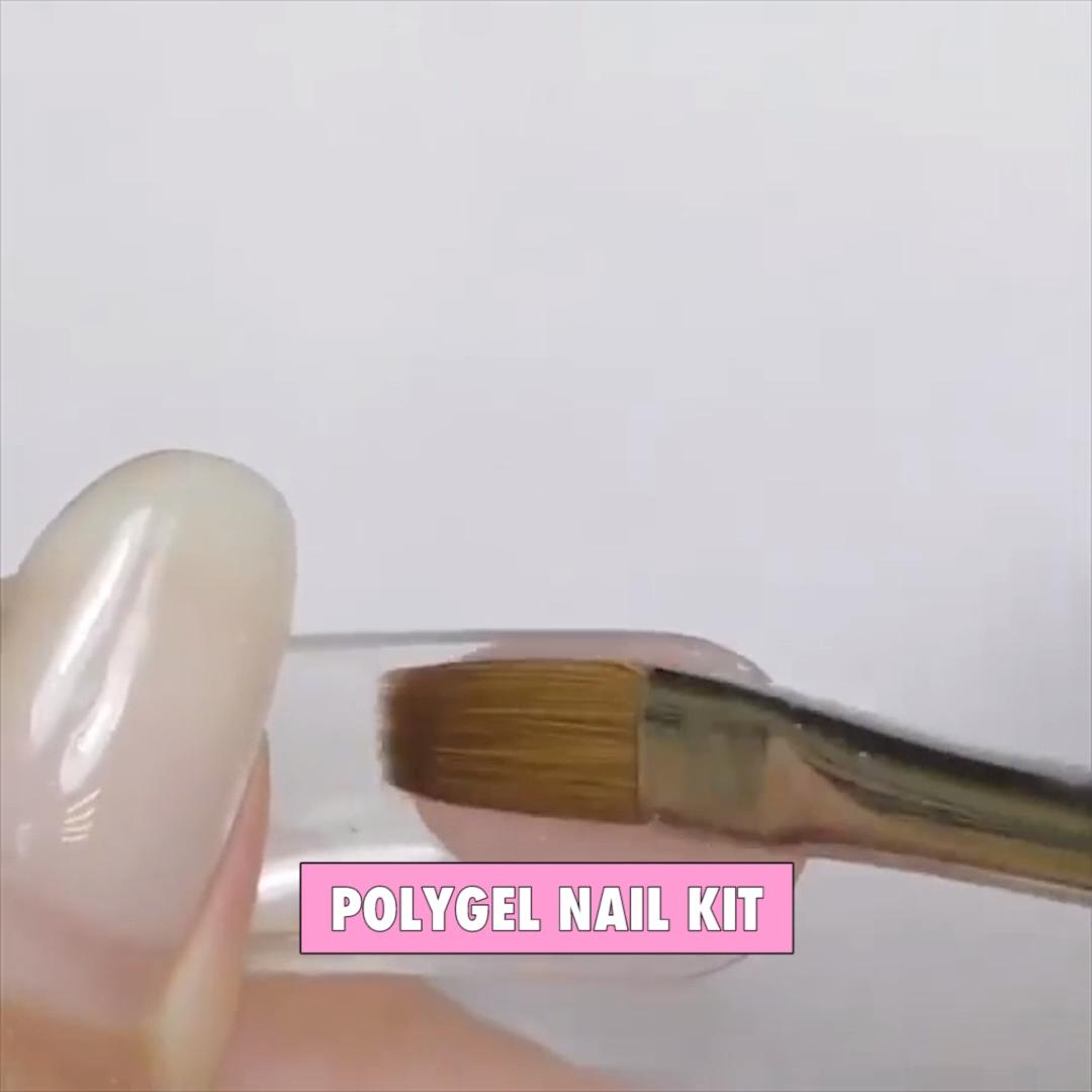 Polygel Nail Kit Video Video Polygel Nails Nail Kit Stylish Nails