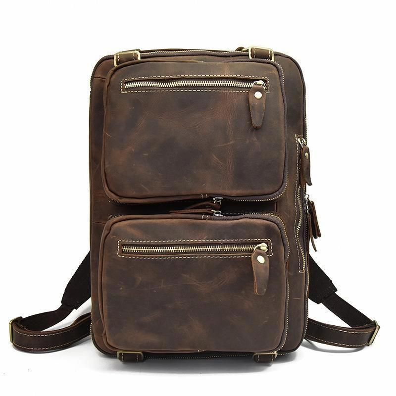 7c726089c1a2 Genuine Leather Mens Cool Messenger Bag Work Bag Satchel Bag Briefcase –  iChainWallets  mensworkfashion