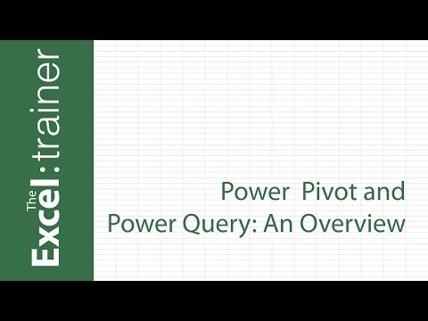 52) Excel - Power Pivot and Power Query Overview - YouTube Excel