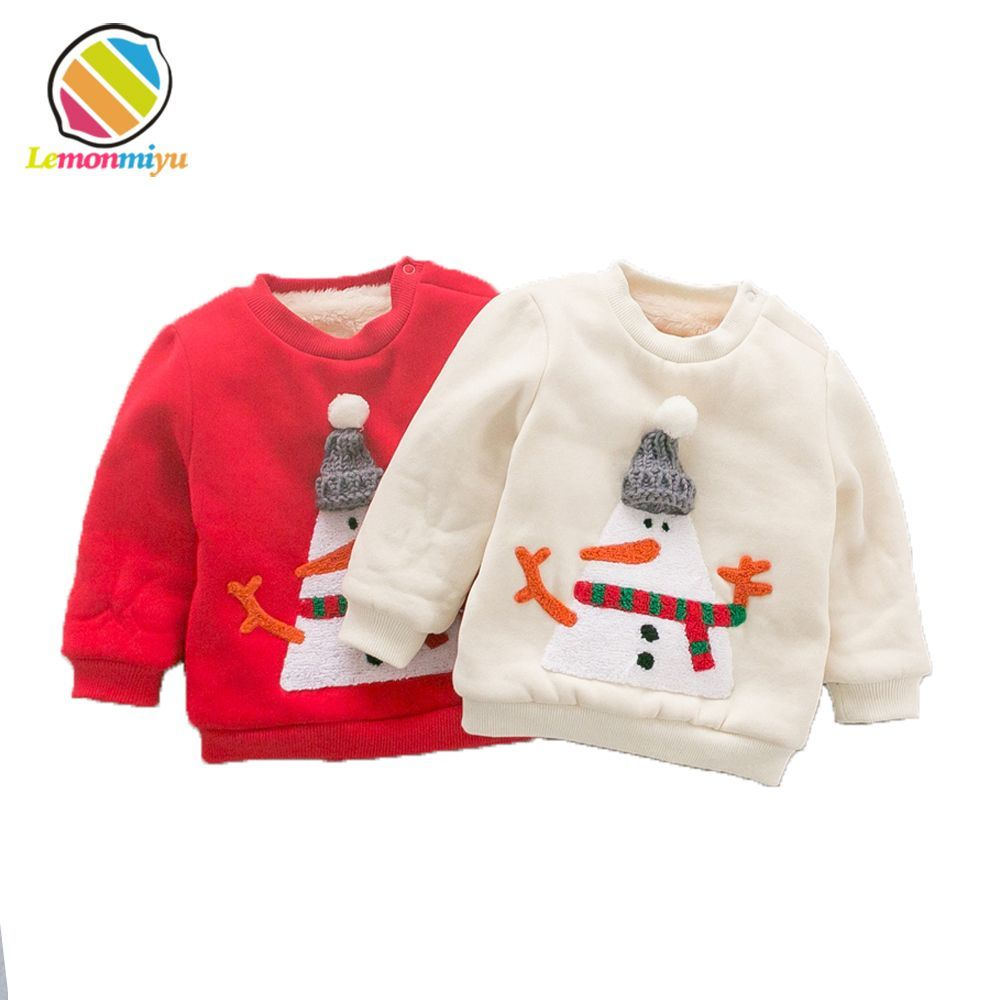 1caca14c43bb Christmas Dear Party Baby Boys Sweaters Winter Warm Cotton Padded ...