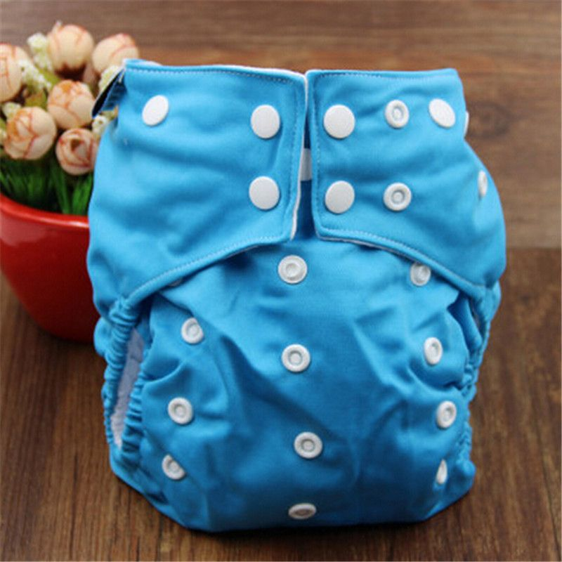 Reusable Baby Cloth Diaper Solid Color Baby Nappy One Size