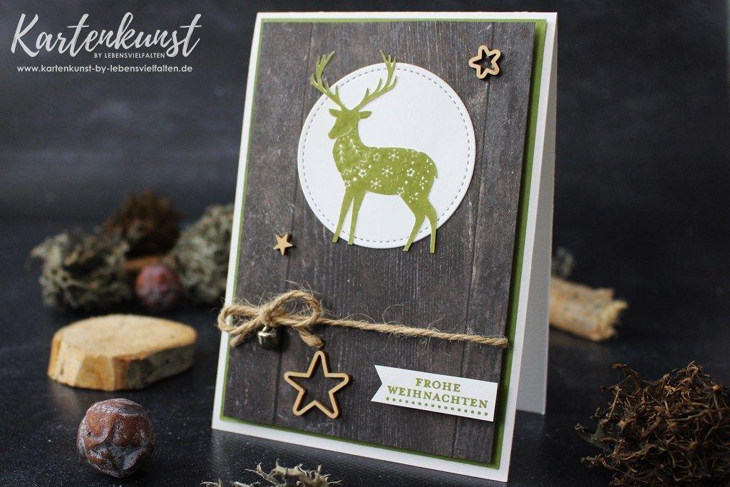 Weihnachtskarte mit dem Stempelset Freude im Advent von Stampin\' Up ...