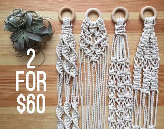 ***This listing is for two plant hangers for the special price of $60 CAD! Choose from four styles - You can choose