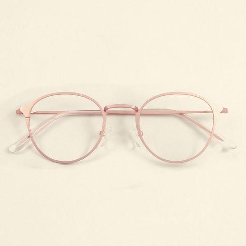 d88cf1370d442 Emo Vintage Gradient Light Glasses Frame Ulzzang Pink MG562 in 2019 ...