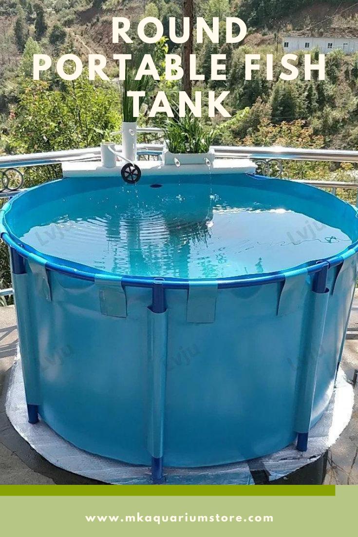 180 300 Gallons Round Aquaculture Aquaponic Breeding Fish Farms Aquarium Pond Fish Tank In 2021 Fish Tank Large Fish Tanks Fish Farming