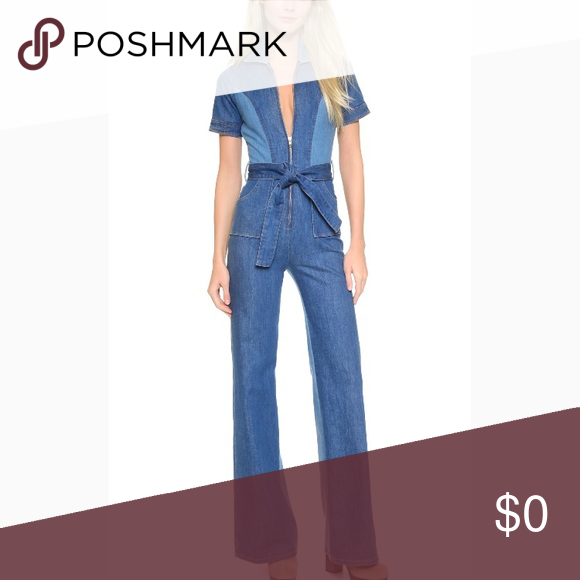 88686429190a ISO Stoned immaculate blue jean baby jumpsuit ISO Stoned immaculate denim  blue jean baby jumpsuit size s stoned immaculate Pants Jumpsuits   Rompers