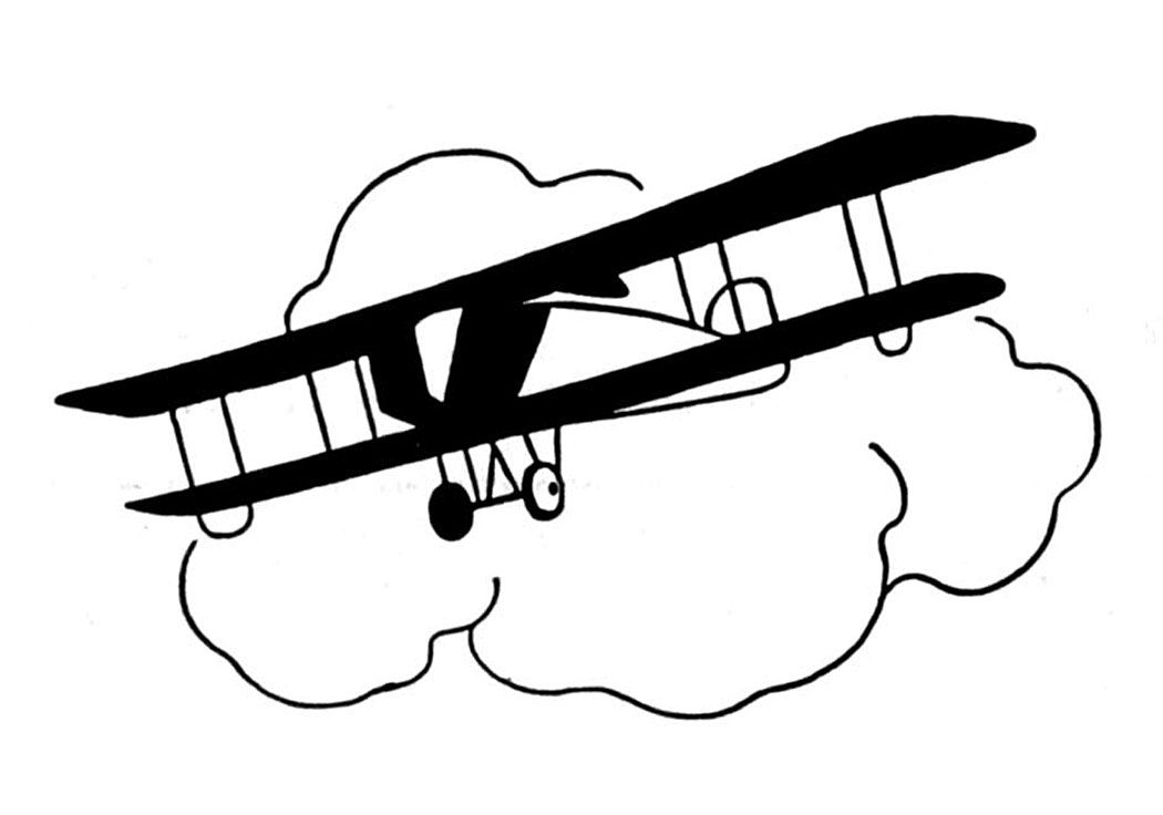 Vintage Clip Art Black And White Airplanes The Graphics Fairy