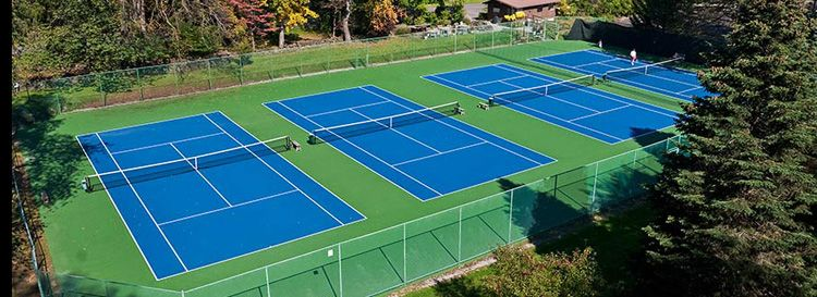 Blue Green Tennis Court Surfaces Tennis Court Tennis Aesthetic Colors