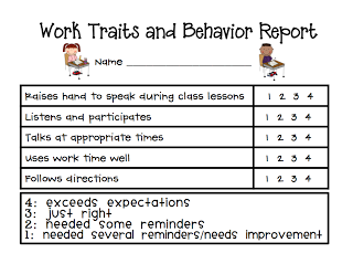 Individual Behavior Chart Freebies  Behaviour Chart Chart And