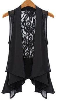 3d929dff491 Zanzea® Sheer Sleeveless Lace Chiffon Vest Tops | plus sz | Lace ...