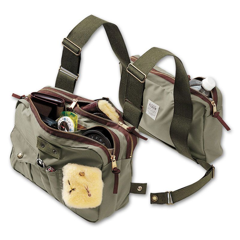 Filson chest pack canvas bag pinterest fly fishing for Fishing chest pack