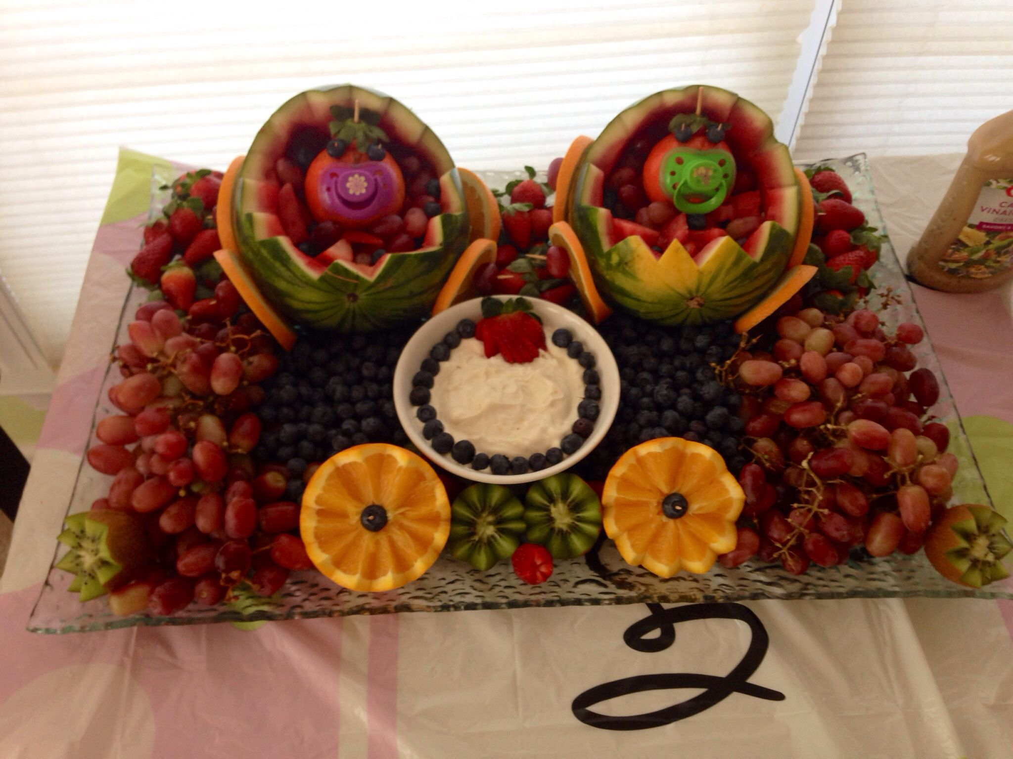 twins baby shower fruit platter baby shower ideas