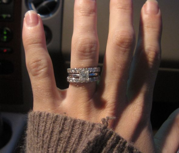 1 ct ering with 1 ct each eternity bands - 2 Carat Wedding Ring