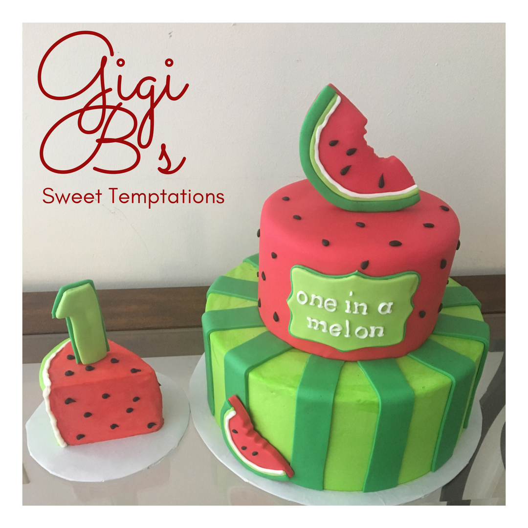 One In A Melon Smash Cake And Cake