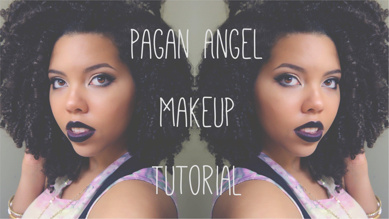Pagan Angel Makeup Tutorial ♔   Black Lipstick  
