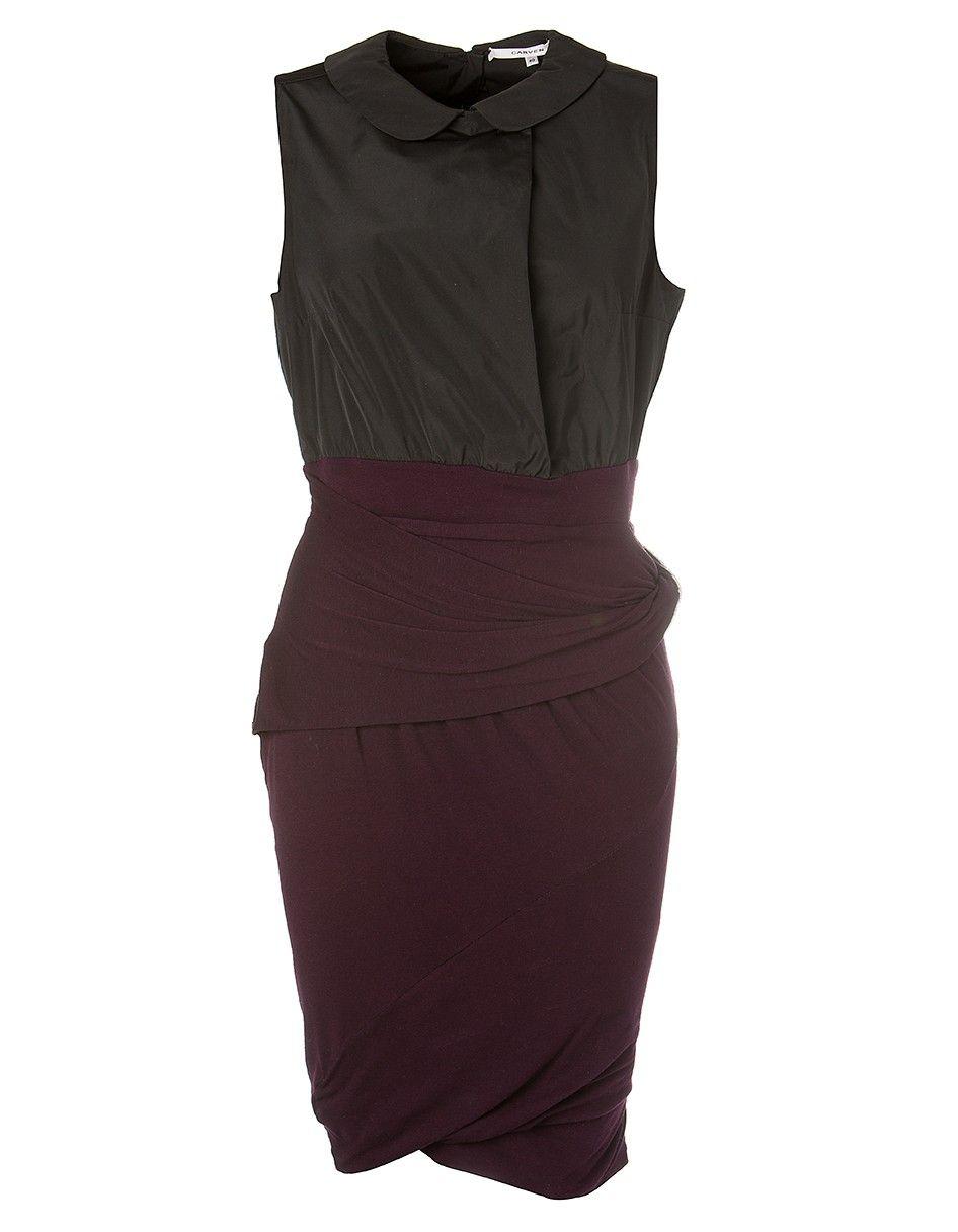CARVEN Cocktail Kleid schwarz-pflaume   Modestil, Kleider ...