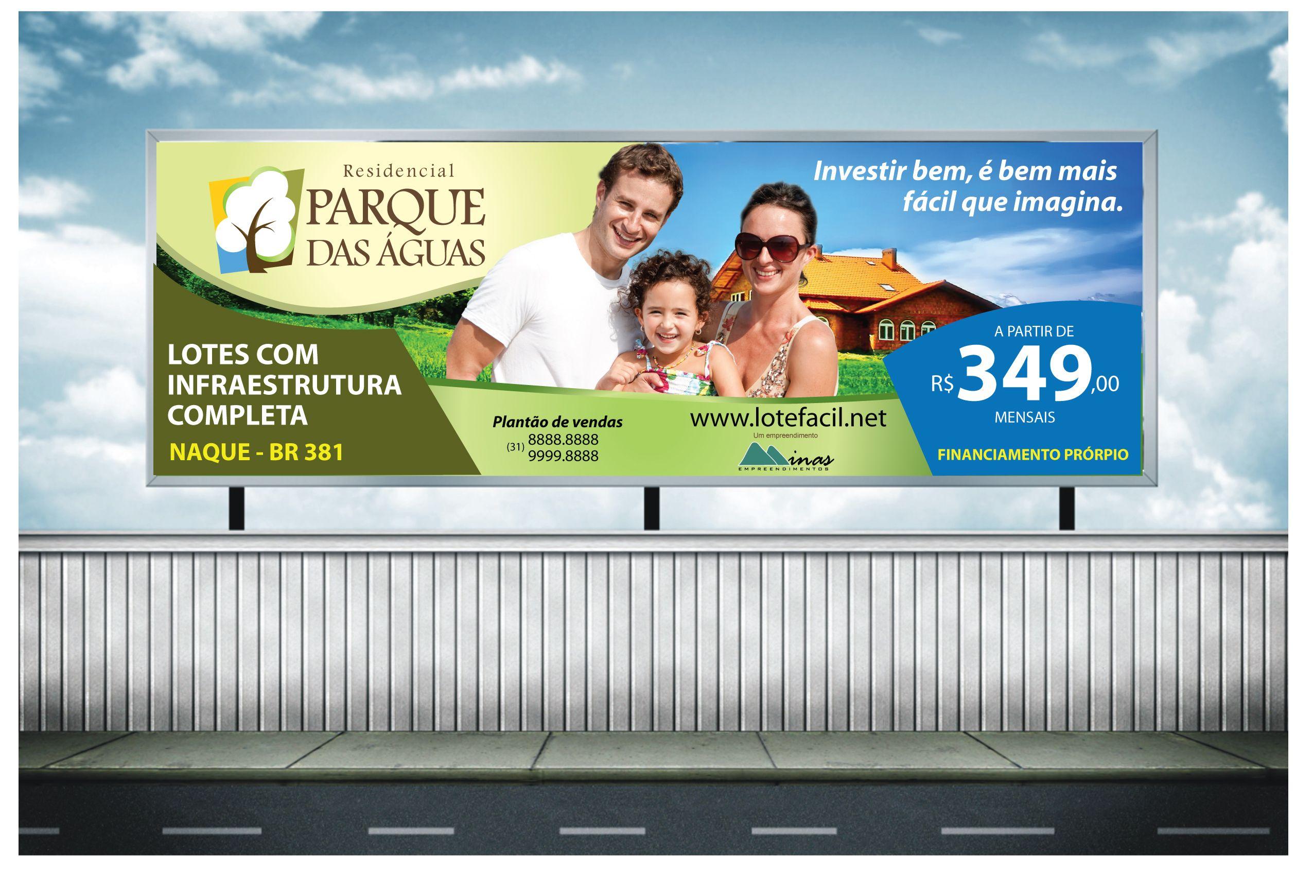 Outdoor  Campanha - Loteamento Parque das Águas - Naque - MG