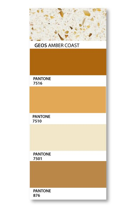 Pantone Swatches Compliment Geos Recycled Gl Surface In Amber Coast