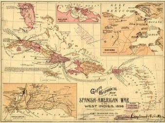 Goffs historical map of the spanish american war in the west indies goffs historical map of the spanish american war in the west indies 1898 gumiabroncs Gallery