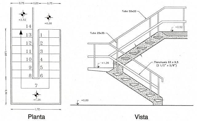Escalera de hormigon escaleras constructivo escaleras for Escaleras metalicas planos